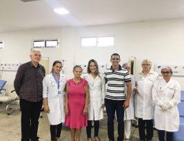 Paciente de Teixeira é a primeira a receber quimioterapia no Hospital do Bem
