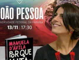 """Manuela D'ávila lança livro """"Por que Lutamos?"""" nesta quarta-feira em João Pessoa"""