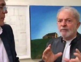 Ricardo Coutinho grava vídeo com Lula e brinca que soltura gerou milagre