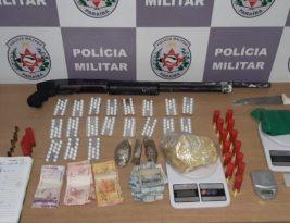 Polícia apreende armas e drogas no Bairro São José após intenso tiroteio com bandido
