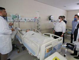 João Azevedo visita estrutura do novo hospital solidário e a UTI para pessoas com coronavírus