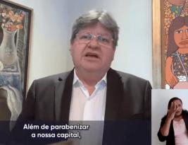 João Azevedo diz que tem muito orgulho de ser pessoense e parabeniza a cidade pelo seu 435° aniversário de fundação