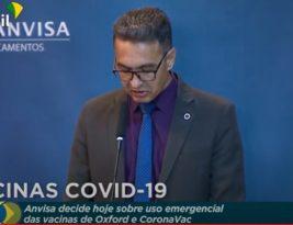 Diretor da Anvisa dá 2° voto a favor do uso emergencial de vacinas contra o coronavirus