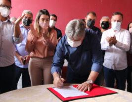 João Azevêdo assina Ordem de Serviço para implantação do Restaurante Popular em Monteiro