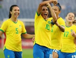 Brasil estréia na olimpíada goleando a China por 5 a 0